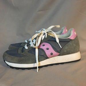 Retro Saucony Sneakers 👟 9 pink gray
